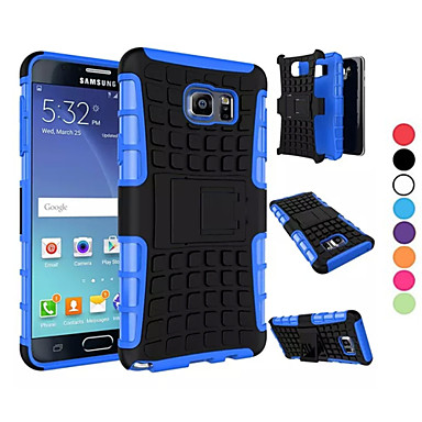 cheap Galaxy Note 3 Cases / Covers-Case For Samsung Galaxy Note 5 Edge / Note 5 / Note 4 Shockproof Back Cover Armor PC