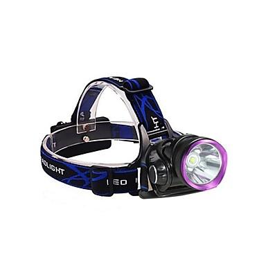 3Mode Stirnlampen / Radlichter LED 2000lm 3 Beleuchtungsmodus inklusive Batterien und Ladegeräten Stoßfest / Wiederaufladbar / Wasserfest
