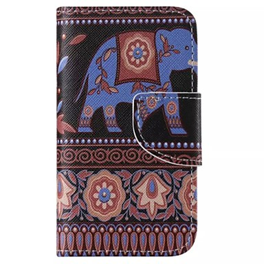 iphone 7 plus olifant beschilderd pu telefoon Case voor iPhone 6s 6 plus se 5s 5c 5 4s 4