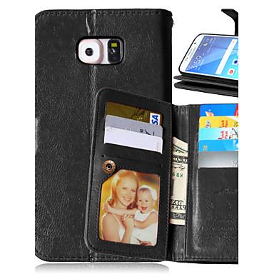 luxe pu lederen flip cover 9 kaarthouders portemonnee geval voor Samsung Galaxy S4 / S5 / s6 / s6 edge / s6 rand plus