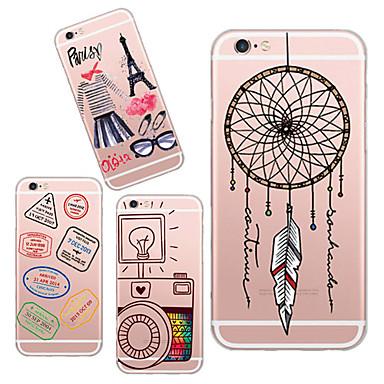 Voor iPhone 6 hoesje / iPhone 6 Plus hoesje Transparant / Patroon hoesje Achterkantje hoesje Cartoon Zacht TPUiPhone 6s Plus/6 Plus /