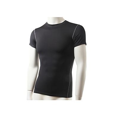 Homens Camisa para Ciclismo Moto Camiseta / Blusas Secagem Rápida, Respirável, Redutor de Suor Sólido Roupa de Ciclismo