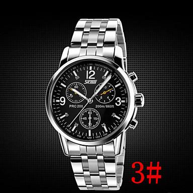 billige Herreure-Herre Armbåndsur Luftfart ur Quartz Rustfrit stål Sølv 30 m Vandafvisende Analog Aristo - 1# 2# 3#