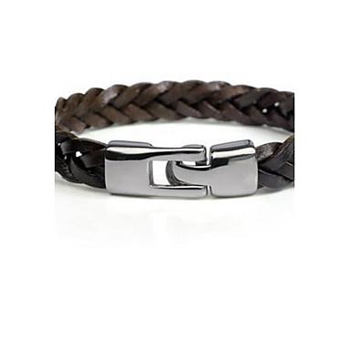 Heren Enkelring  Armband Lederen armbanden Modieus Stof Zwart Bruin Bronzen Sieraden Voor 1 stuks