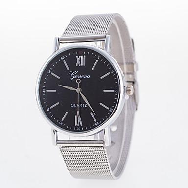 Dames Modieus horloge Kwarts Legering Band Zilver Wit Zwart
