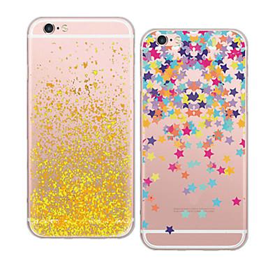 Para Capinha iPhone 5 Transparente / Estampada Capinha Capa Traseira Capinha Azulejos Macia TPU iPhone SE/5s/5