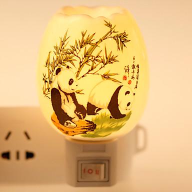 1 stuks Wand Plug Nachtlampje Keramiek 1 Lamp
