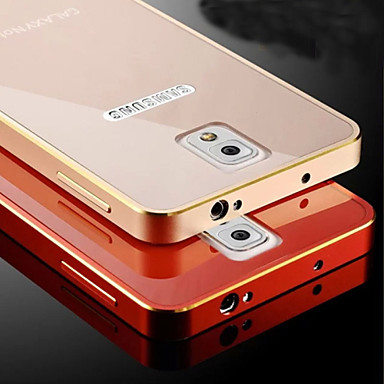 Para Samsung Galaxy Note Cromado Capinha Capa Traseira Capinha Cor Única Metal Samsung Note 4 / Note 3