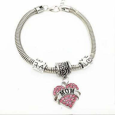 Dames Armbanden met ketting en sluiting Initial Jewelry Legering Wit Blauw Roze Sieraden Voor Dagelijks Causaal 1 stuks