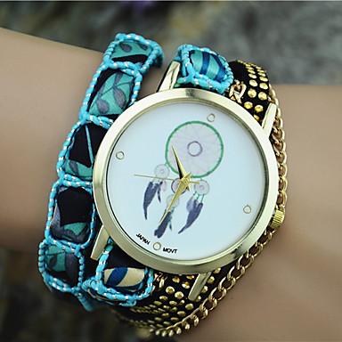 Mulheres Bracele Relógio Relógio de Moda Quartzo Tecido Banda Boêmio Preta Branco Azul Laranja Rosa Roxa