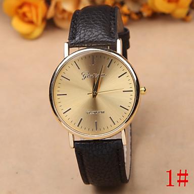 Masculino Relógio de Pulso Quartzo Couro Banda Preta Branco Vermelho Marrom # 1 # 2 # 3 # 4