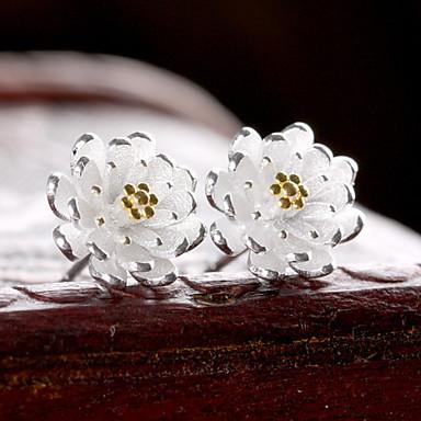 Dames Bloem Sterling zilver Zilver Oorknopjes - Birthstones Geboortestenen Goud Zilver oorbellen Voor Bruiloft Feest Dagelijks