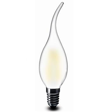 E12 Luzes de LED em Vela CA35 2 COB 200 lm Branco Quente 2700 K Decorativa AC 110-130 V