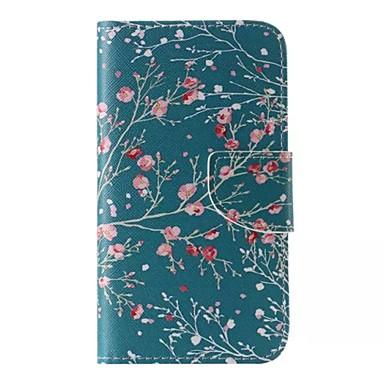 Para Samsung Galaxy Capinhas Porta-Cartão / Carteira / Com Suporte / Flip / Estampada Capinha Corpo Inteiro Capinha Flor Couro PU para