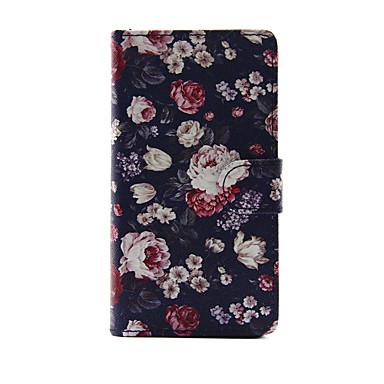 Voor apple iphone 7 7 plus iphone 6s 6 plus iphone se 5s 5 case cover de bloemen patroon pu lederen gevallen