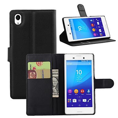 Кейс для Назначение Sony Xperia Z3 Compact Sony Xperia M4 Аква Sony Кейс для Sony Бумажник для карт Кошелек со стендом Флип Чехол