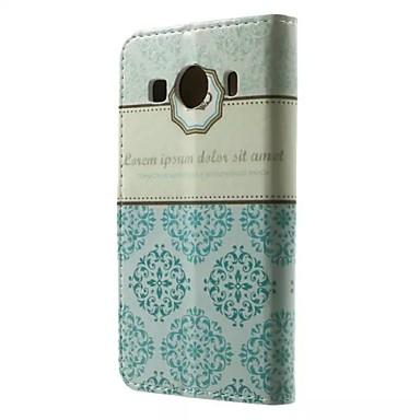 Para Samsung Galaxy Capinhas Porta-Cartão / Carteira / Com Suporte / Flip / Estampada Capinha Corpo Inteiro Capinha Azulejos Couro PU