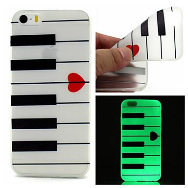 Voor iPhone 5 hoesje Hoesje cover Glow in the dark Achterkantje hoesje Lijnen / golven Zacht TPU voor iPhone SE/5s iPhone 5