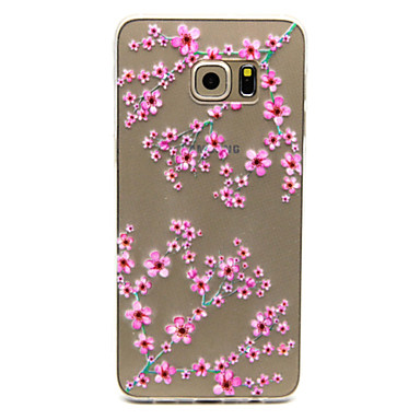 pruim bloem patroon TPU opluchting Cover Case voor Galaxy s5 mini / s5 / galaxy s6 / galaxy s6 edgeplus / galaxy s6 rand