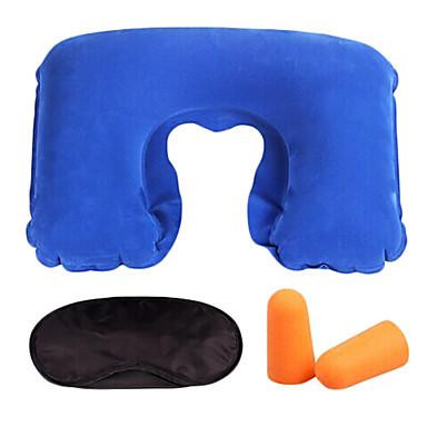 Μαξιλάρι λαιμού Μάσκα ύπνου Για Υπαίθρια Χρήση Ταξίδι Βελούδο 3D Πολύ Ελαφρύ (UL) Σκίαστρα Φουσκωτό Αθόρυβο Ικανότητα να αναπνέει