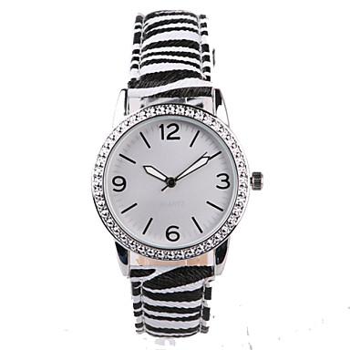 Dames Modieus horloge Kwarts Waterbestendig imitatie Diamond PU Band Amulet Glitter Zwart