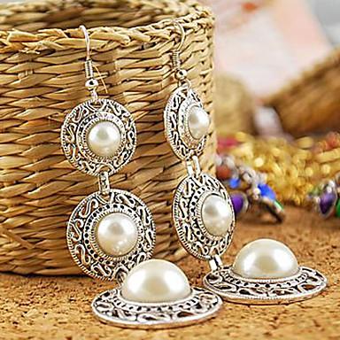 Druppel oorbellen Legering Zilver Sieraden Voor Bruiloft Feest Dagelijks Causaal 1 stuks