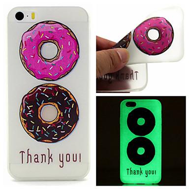 Voor Hoesje cover Glow in the dark Patroon Achterkantje hoesje Voedsel Zacht TPU voor iPhone SE/5s iPhone 5