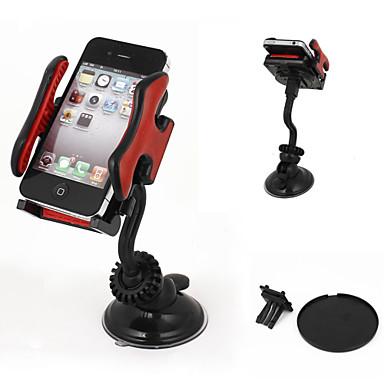 pára-brisa do carro montar titular de navegação de 360 graus de telefone celular gps mp4 preto vermelho