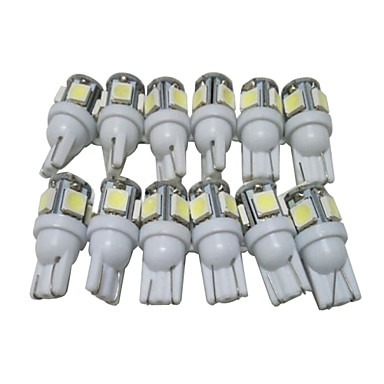 voordelige Autoverlichting overdag-12st T10 Automatisch Lampen 2.5W SMD 5050 90lm 5 LED Exterieur Lights