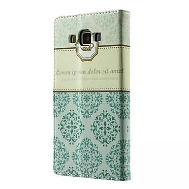 goede kwaliteit pu lederen flip case mobiele telefoon holster voor Samsung Galaxy A3 / A5 / a7