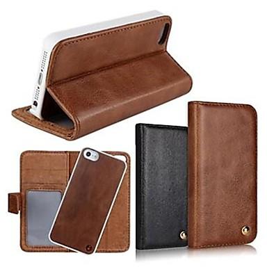 2 in 1 top kwaliteit lederen portemonnee case met standaard voor iphone 4 / 4s (verschillende kleuren)