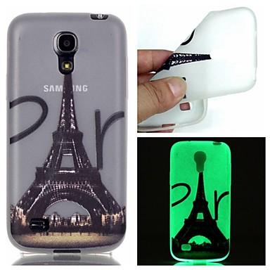 Voor Samsung Galaxy hoesje Glow in the dark hoesje Achterkantje hoesje Eiffeltoren TPU Samsung S6 edge plus / S6 / S5 / S4 Mini / S3