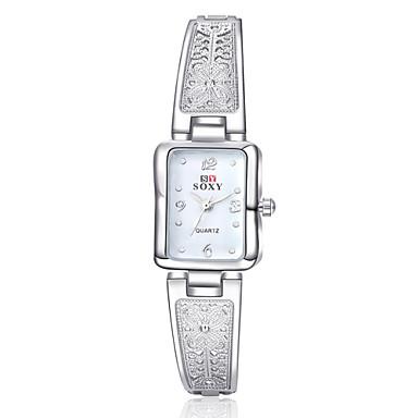 여성용 패션 시계 손목 시계 팔찌 시계 석영 합금 밴드 실버 골드