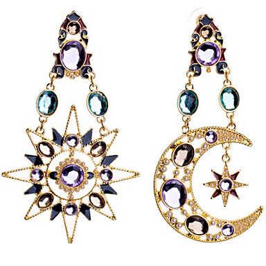 Druppel oorbellen Modieus Luxe Sieraden Europees imitatie Diamond Legering MOON Schermkleur Sieraden Voor 2 stuks