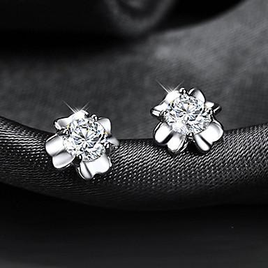 Ανδρικά Γυναικεία Κουμπωτά Σκουλαρίκια Κρύσταλλο Ακρυλικό Επιχρυσωμένο Τετράφυλλο τριφύλλι Κοσμήματα Ασημί Γάμου Πάρτι Καθημερινά Causal