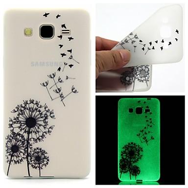 Para Samsung Galaxy Capinhas Brilha no Escuro / Estampada Capinha Capa Traseira Capinha Dente de Leão TPU Samsung On 7 / On 5