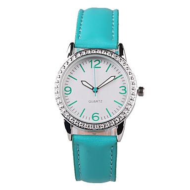 Mulheres Relógio de Moda Quartzo Impermeável imitação de diamante PU Banda Brilhante Pendente Verde