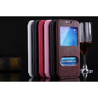 hoesje Voor Samsung Galaxy Samsung Galaxy hoesje met standaard Flip Volledig hoesje Effen Kleur PU-nahka voor A8