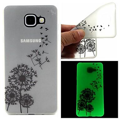 Para Samsung Galaxy Capinhas Brilha no Escuro / Transparente / Estampada Capinha Capa Traseira Capinha Dente de Leão TPU SamsungA7(2016)