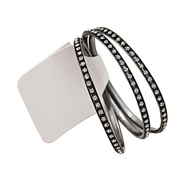 Dames Bangles Luxe Sieraden Hars Strass imitatie Diamond Legering Cirkelvorm Zwart Sieraden Voor Bruiloft Feest Dagelijks Causaal Sport3