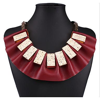 Dames Vorm Opvallende sieraden Modieus Europees Verklaring Kettingen Leder Legering Verklaring Kettingen Kostuum juwelen