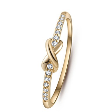 Women's Band Ring - Zircon Infinity 6 / 7 / 8 / 9 Silver / Golden For Wedding Party Daily