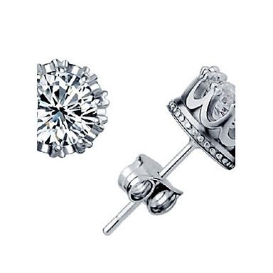 Oorknopjes Birthstones Geboortestenen Zirkonia Kubieke Zirkonia imitatie Diamond Wit Schermkleur Sieraden Voor