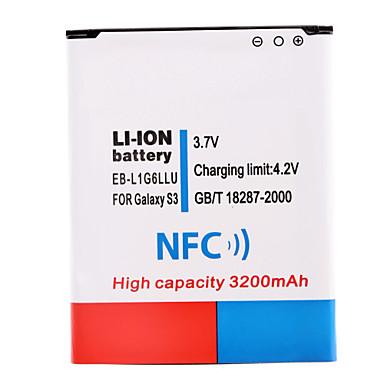 3.7V 3200mAh bateria Li-ion com NFC para Samsung s3 i9300