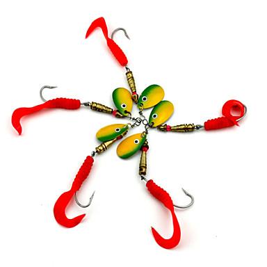5 pçs Iscas Iscas Buzzbait & Spinnerbait Plástico Pesca de Isco