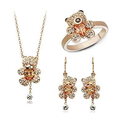 Sieraden Kettingen / Oorbellen / Ringen Bruiloft / Feest / Dagelijks / Causaal Kristal / Legering 1 Set Dames Giften van het Huwelijk