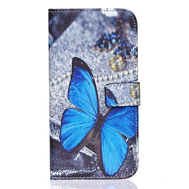 Voor Samsung Galaxy hoesje Portemonnee / Kaarthouder / met standaard / Flip hoesje Volledige behuizing hoesje Vlinder PU-leer SamsungS7