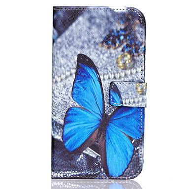 Voor Samsung Galaxy hoesje Hoesje cover Kaarthouder Portemonnee met standaard Flip Volledige behuizing hoesje Vlinder PU-leer voor