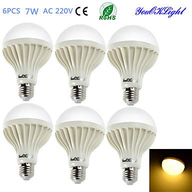 E26/E27 Lâmpada Redonda LED B 12 leds SMD 5630 Decorativa Branco Quente 550lm 3000K AC 220-240V