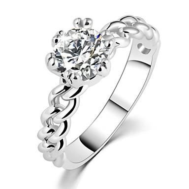 Anéis Casamento / Pesta / Diário / Casual Jóias Zircão Feminino Anéis Grossos 1pç,6 / 7 / 8 / 9